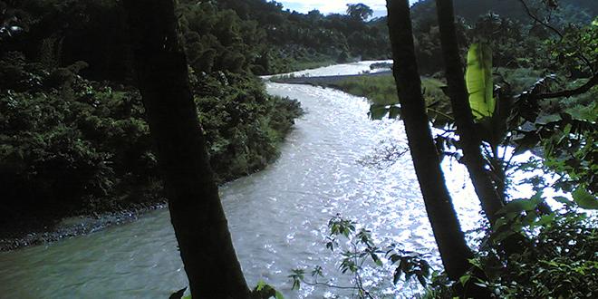 vista de un recodo, sobre el río Amazonas