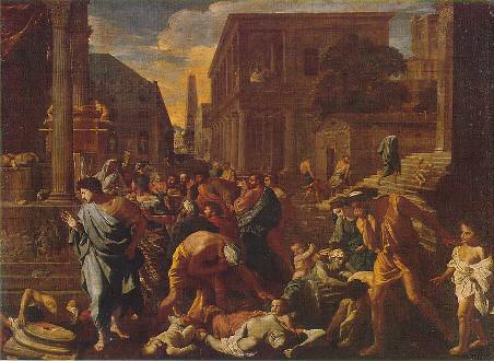 La peste en Ashdod, cuadro de Nicolas Poussin, 1630