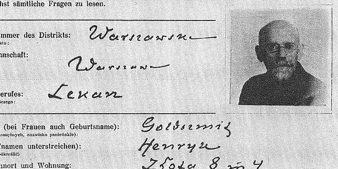 Detalle identificación obligatorio por parte de las fuerzas ocupantes de todos los médicos, 1940