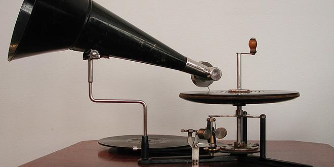 Gramófono berliner manual, de 1899