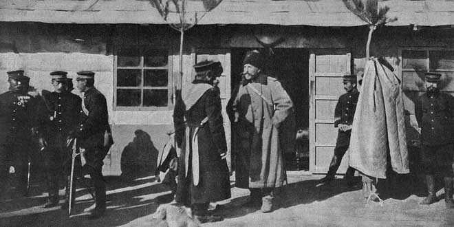 Imagen de la Guerra ruso-japonesa: El general Anatoly Stessel, después de la caída de Port-Arthur, 1905, La Ilustración Artística.