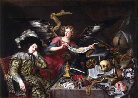 El sueño del caballero o La vida es sueño, de Antonio Pereda - Academia de S. Fernando, Madrid