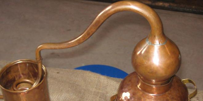 Adminículo de bronce que se utilizaba para purificar el agua