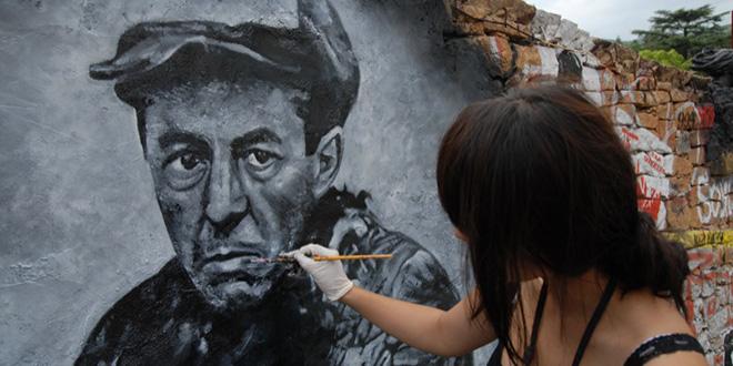 """Retrato de Aleksandr Solzhenitsyn, escritor ruso que ganó el Nobel de Literatura en 1970. Fue prisionero por criticar el régimen ruso y, gracias a su libro """"Archipiélago gulag"""" ayudó a generar conciencia en torno a estos lugares. Estuvo preso desde 1945 hasta 1956"""