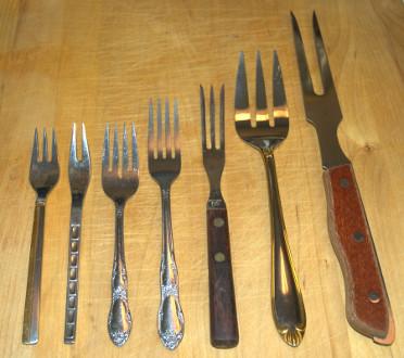 Diversos tipos de tenedores