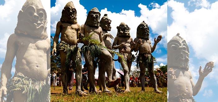 tribus del mundo, asaro, hombres de barro