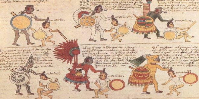 Folio 65 recto Rangos asignados a los sacerdotes-guerreros Oficiales imperiales.