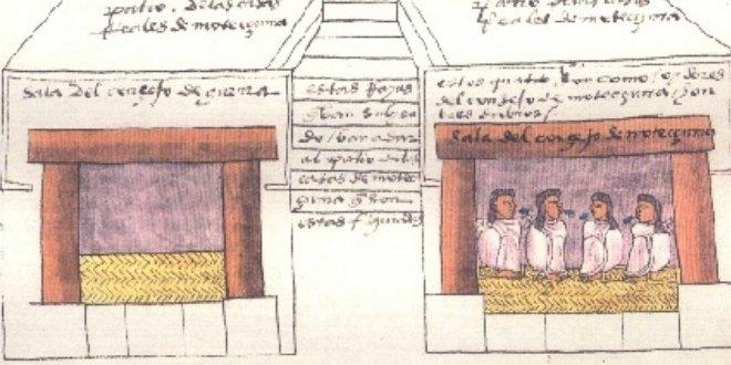 Folio 69.Teocalli de Moctezuma Xocoyotzin