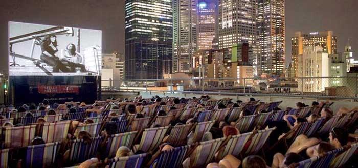 El mejor cine del mundo. Rooftop Cinema, Australia