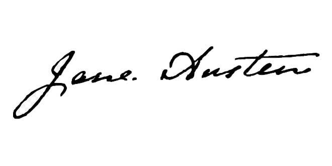 Firma de Jane Austen