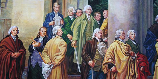 Declaración de independencia de los Estados Unidos. Detalle