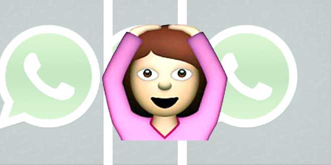 mujer manos cabeza emoji