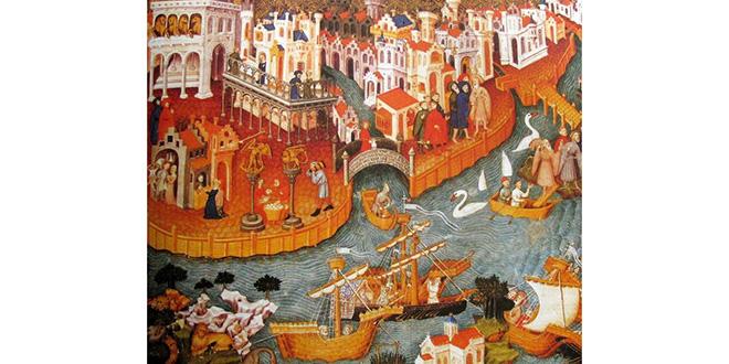 Marco Polo saliendo de Venecia