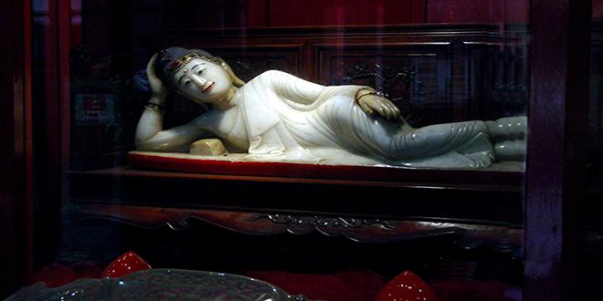 Buda reclinado. Templo del Buda de jade, Shanghái, China