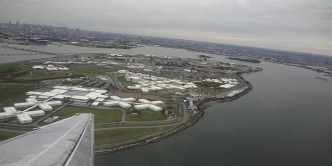 Isla Rikers, en Nueva York. La isla completa es una cárcel