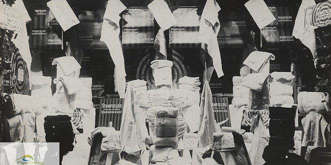 Tienda por departamentos Anderson, sección de ropa interior. 1910