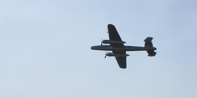 B-52 en pleno vuelo