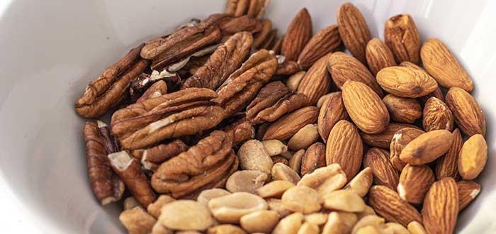 alimentos anticancerígenos. Frutos secos