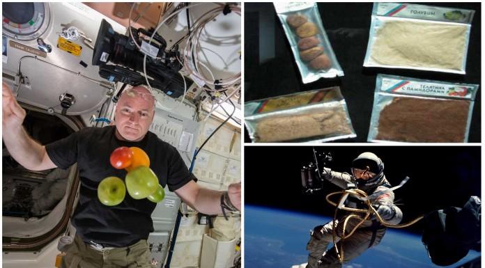 ¿Cómo se alimentan los astronautas ?