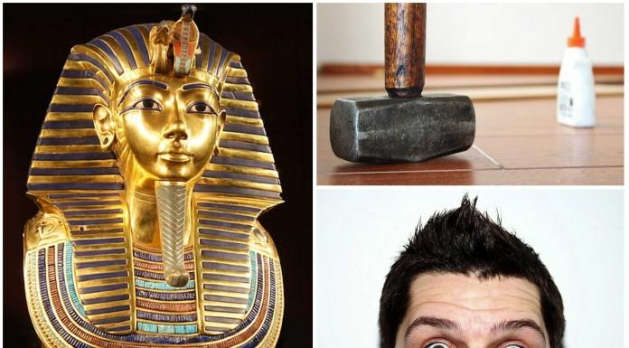 La chapuza de la barba de Tutankamon