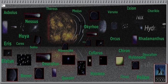 Objetos celestes en el Cinturón de Kuiper