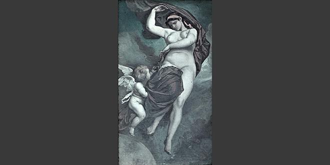 """""""Gea"""", de Anselm Feuerbach, 1875, fresco del techo de la Academia de Bellas Artes de Viena"""