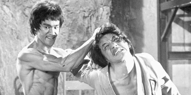 "Jackie Chan como extra en ""Enter The Dragon"""