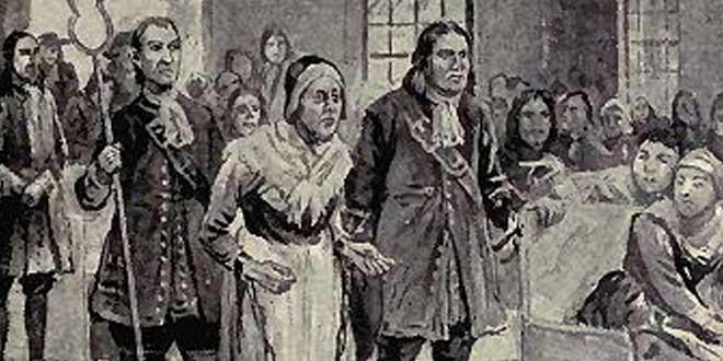 Representación de Rebecca Nurse en los Juicios de Salem ( John R. Musick, 1893)