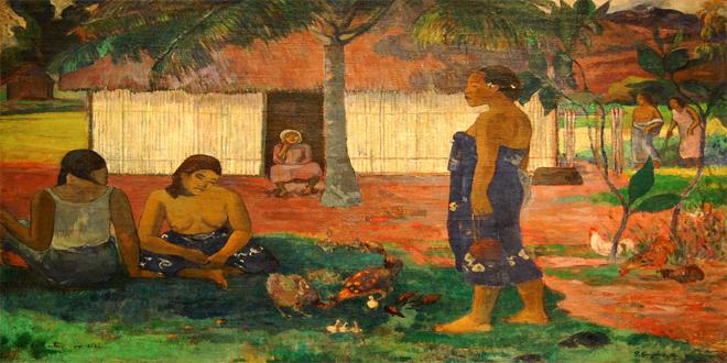 """Paul Gauguin, """"¿Por qué tienes hambre?"""", cuadro de 1896"""