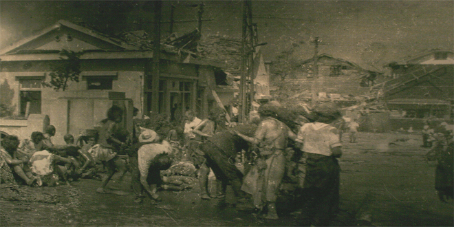 Hiroshima, foto tomada pocas horas después del ataque