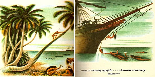 """Ilustraciones originales de la edición de """"Typee"""""""