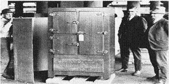 Uno de los primeros refrigeradores