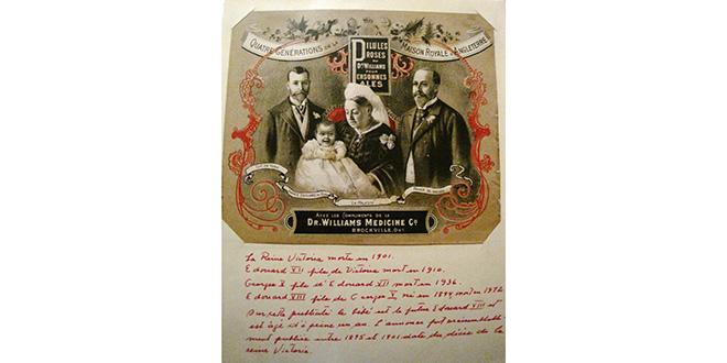 La reina Victoria de Inglaterra, con su familia