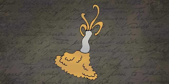 Ilustración del Gusano Zombi, Animales de la Fosa de las Marianas