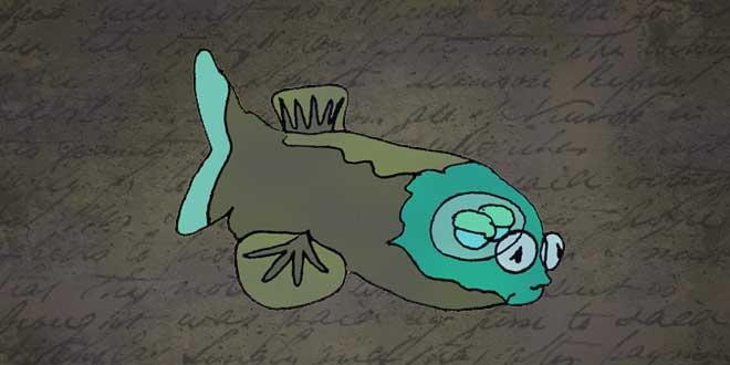 ilustración del Pez Duende, Animales de la Fosa de las Marianas