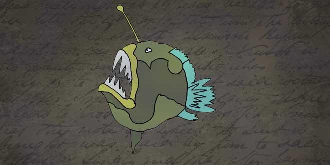 ilustración del Pez Diablo, Animales de la Fosa de las Marianas