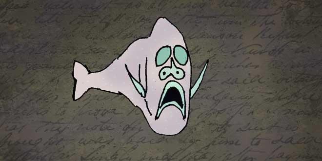 Ilustración del Pez Hacha, Animales de la Fosa de las Marianas
