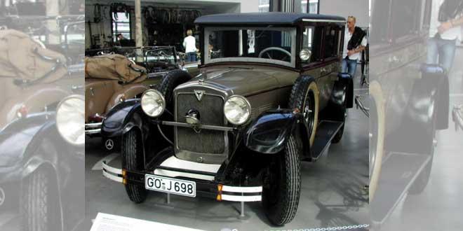 Un Adler Standard 6, el mismo modelo que el que condujo Stinnes