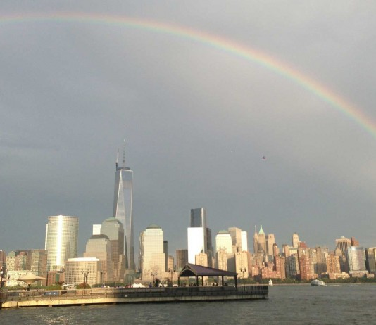 Arcoíris surge del trágico World Trade Center