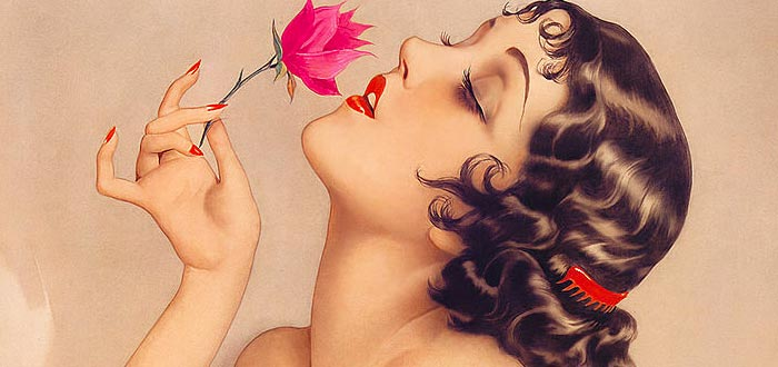 alberto vargas, chicas pin-up, retrato