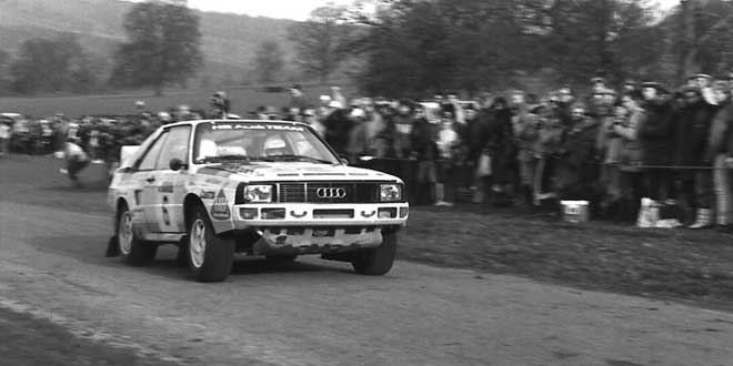 Michele Mouton y Fabrizia Pons Audi Quattro Sport-Chatsworth House 1984 RAC Rally UK