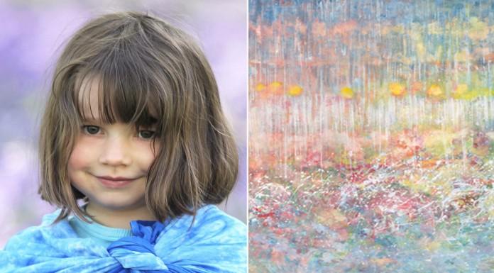 Iris Grace, la niña con autismo que crea obras asombrosas
