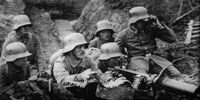 Soldados alemanes en el frente