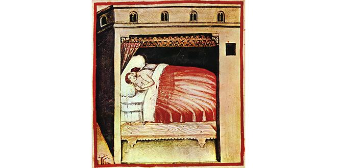 """""""Coito"""", representado en el códice medieval """"Tacuinum sanitatis"""""""