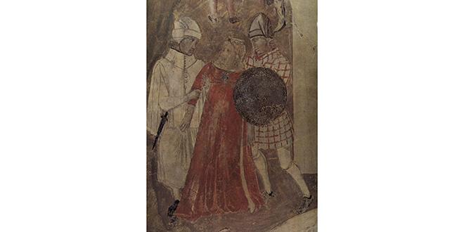 """Ambrogio Lorenzetti: Escena de abusos, en """"Alegoría del buen y del mal gobierno"""""""