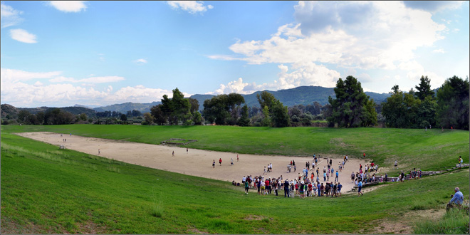 Antiguo estadio de Olimpia, donde se hacían todas las competiciones