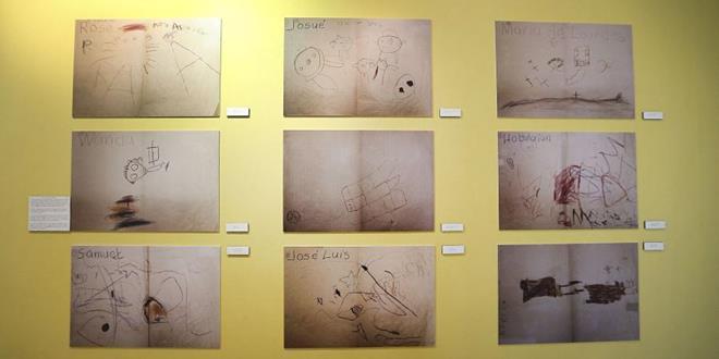 Dibujos de los niños 3 día antes del desastre de Mameyes el 7 de octubre de 1985