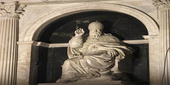 Monumento en la tumba de Clemente VII