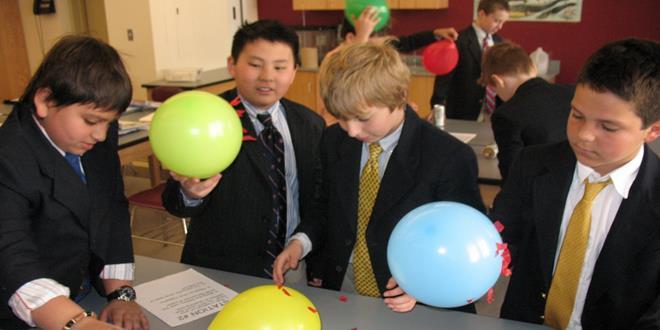 electricidad estática, globos