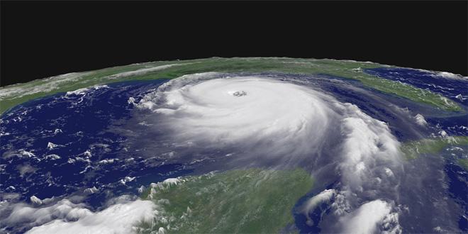 El huracán Katrin, visto desde el espacio